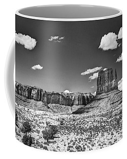 Monument Valley In Monochrome  Coffee Mug
