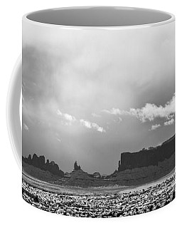 Monument Valley In Snow Panorama Coffee Mug