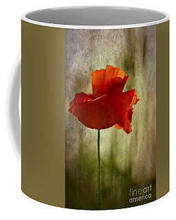 Coffee Mug featuring the photograph Moody Poppy. by Clare Bambers - Bambers Images