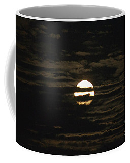 Coffee Mug featuring the photograph Moon Behind The Clouds by William Norton