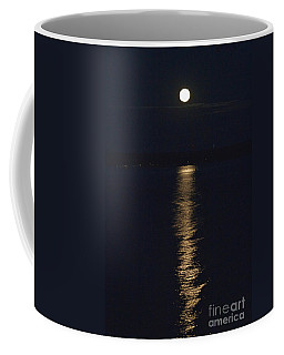 Moon Over Seneca Lake Coffee Mug by William Norton