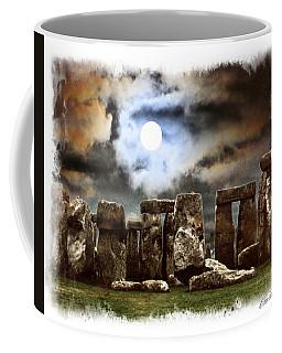 Moon Over Stonehenge Coffee Mug
