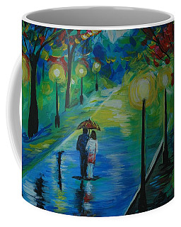 Coffee Mug featuring the painting Moonlight Stroll Series 1 by Leslie Allen