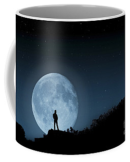 Coffee Mug featuring the photograph Moonlit Solitude by Steve Purnell