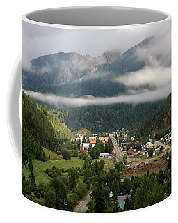 Morning Clouds Over Red River Coffee Mug
