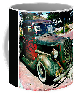 Coffee Mug featuring the photograph Morning Glory Coal Truck by Nina Prommer