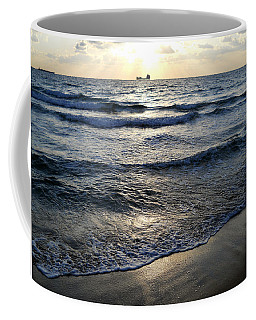 Coffee Mug featuring the photograph Morning Surf by Clara Sue Beym