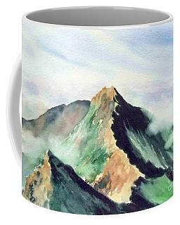 Coffee Mug featuring the painting Mountain  1 by Yoshiko Mishina