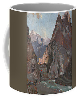 Mountains In Koman Albania Coffee Mug