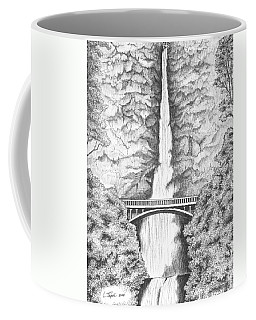Multnomah Falls Coffee Mug by Lawrence Tripoli