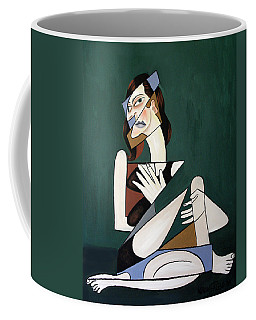 Coffee Mug featuring the painting My Broken Heart by Anthony Falbo