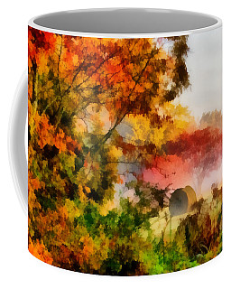Coffee Mug featuring the painting My Front Yard by Lynne Jenkins
