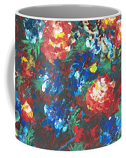 Coffee Mug featuring the painting My Sister's Garden II by Alys Caviness-Gober