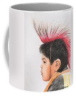 Native American Boy With Headdress Coffee Mug