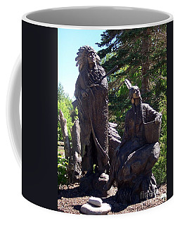 Coffee Mug featuring the photograph Native American Statue by Chalet Roome-Rigdon