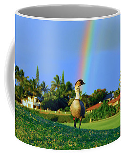Nene At The End Of The Rainbow Coffee Mug by Lynn Bauer