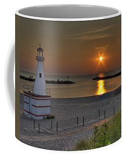 New Buffalo City Beach Sunset Coffee Mug