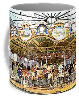 Coffee Mug featuring the photograph New York Carousel by Alice Gipson