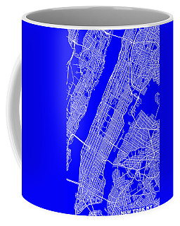 New York City Map Streets Art Print   Coffee Mug