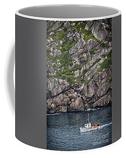 Coffee Mug featuring the photograph Newfoundland Fishing Boat by Verena Matthew