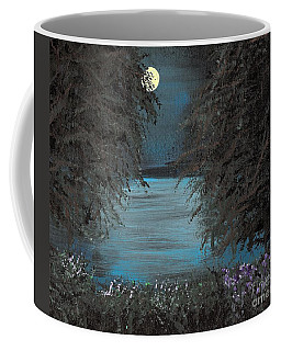Coffee Mug featuring the painting Night In The Bayou by Alys Caviness-Gober