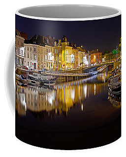 Nighttime Along The River Leie Coffee Mug
