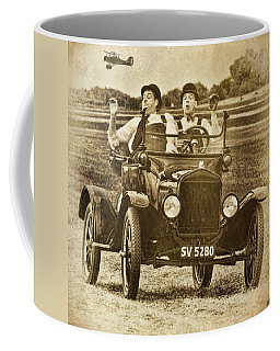 Coffee Mug featuring the photograph Not Likely Laurel And Hardly Hardy by Chris Lord