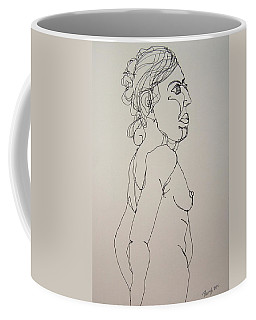 Nude Girl In Contour Coffee Mug by Rand Swift