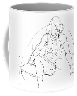 Coffee Mug featuring the drawing Nude-male-drawings-13 by Gordon Punt