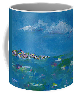 Coffee Mug featuring the painting Ocean Delight by Judith Rhue