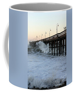 Ocean Wave Storm Pier Coffee Mug