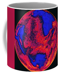Coffee Mug featuring the digital art Oceans Of Fire by Alec Drake