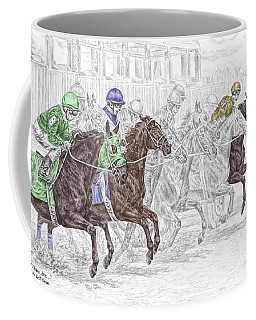 Odds Are - Tb Horse Racing Print Color Tinted Coffee Mug