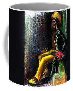 Coffee Mug featuring the drawing Odelisque by Gabrielle Wilson-Sealy