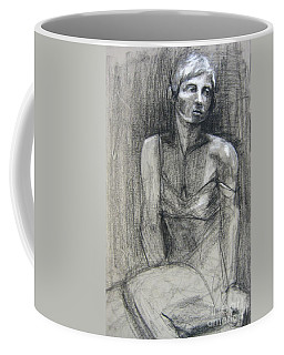 Coffee Mug featuring the drawing Off The Shoulder by Gabrielle Wilson-Sealy