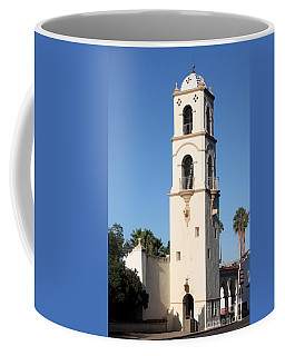 Coffee Mug featuring the photograph Ojai Post Office Tower by Henrik Lehnerer