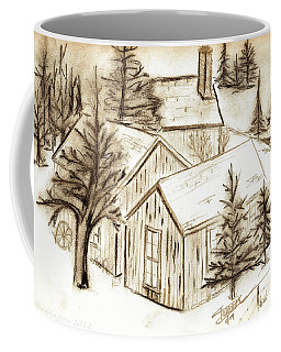 Coffee Mug featuring the drawing Old Colorado by Shannon Harrington