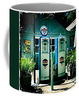 Old Fashioned Gas Station Coffee Mug by Nina Prommer