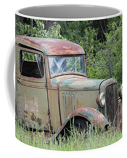 Coffee Mug featuring the photograph Abandoned Truck In Field by Athena Mckinzie