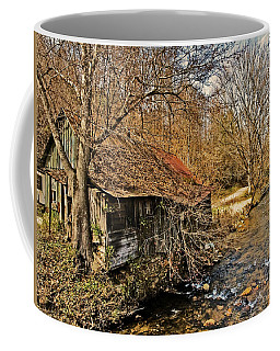 Old Home On A River Coffee Mug