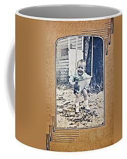 Old Photo Of A Baby Outside Coffee Mug