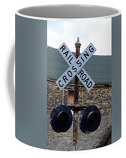 Old Railroad Crossing Coffee Mug