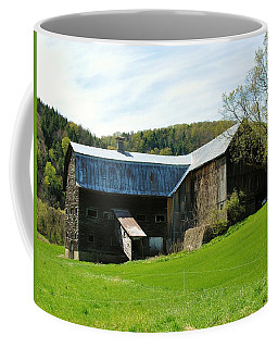 Coffee Mug featuring the photograph Old Vermont Barn by Sherman Perry