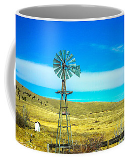 Coffee Mug featuring the photograph Old Windmill by Shannon Harrington