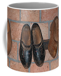 Coffee Mug featuring the digital art Old Wooden Shoes by Carol Ailles