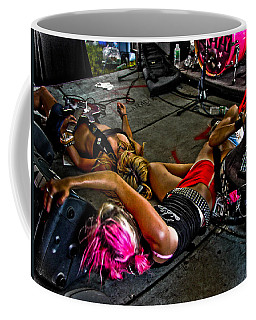 Coffee Mug featuring the photograph On Stage Literally by Mike Martin