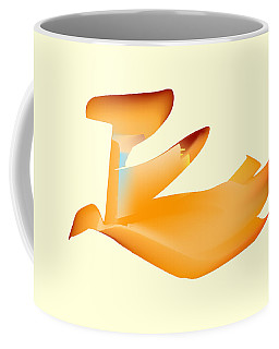 Orange Jetpack Penguin Coffee Mug
