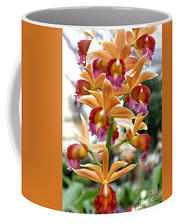 Coffee Mug featuring the photograph Orange Orchids by Debbie Hart