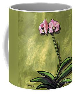Orchid On Olive Coffee Mug