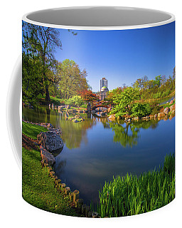 Osaka Garden Pond Coffee Mug by Jonah  Anderson